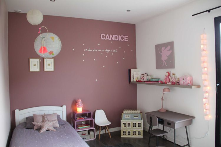 deco chambre fille rose fushia visuel kids rooms. Black Bedroom Furniture Sets. Home Design Ideas
