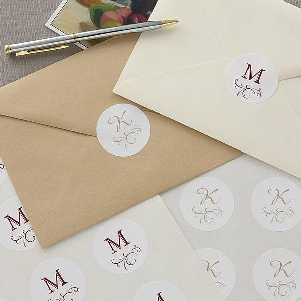 Return Address Labels Personalized Address Stickers Monogram Envelope Seals Circle Monogram Stamp Custom Address Labels Kids Name Label