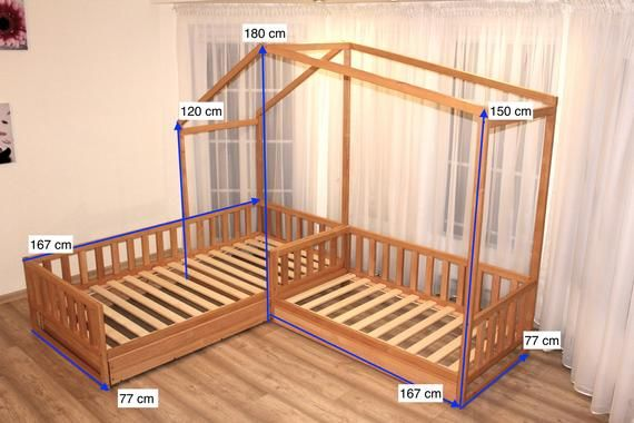 Toddler House Beds With Slats Montessori Bed Etsy Toddler House Bed Toddler Rooms Montessori Bed
