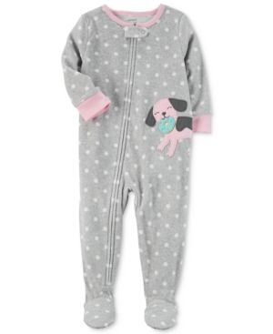 69851d694542 Carter s 1-Pc. Dot-Print Dog Footed Pajamas