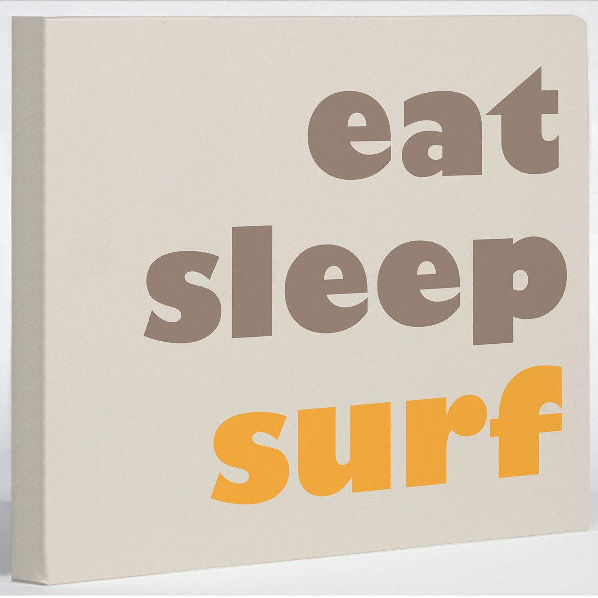 Eat, Sleep, Surf Canvas 20x16