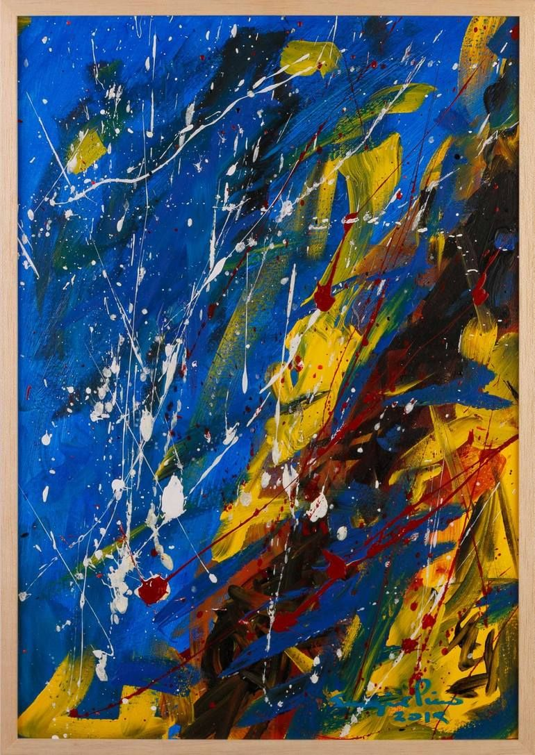 Original Art Acrylic Painting, measuring: 35W x 50H x 1D cm, by: Sergio Pino (Argentina). Styles: Expressionism, Abstract, Abstract Expressionism. Subject: Abstract. Keywords: Abstractexpressionism, Latinoamericanart, Contemporary, Collectors, Argentinian, Abstract, Sergiopino, Blue, Actionpainting, Yellow, Red, Pino. This Acrylic Painting is one of a kind and once sold will no longer be available to purchase. Buy art at Saatchi Art.