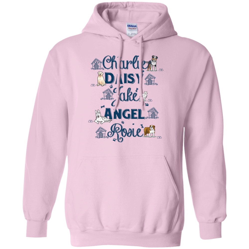Pet Names Hoodie For Dog Lovers