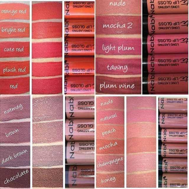 Nabi Matte Lipstick Swatches Kathrynglee123 Lip Colors Nabi Cosmetics Lipstick Swatches