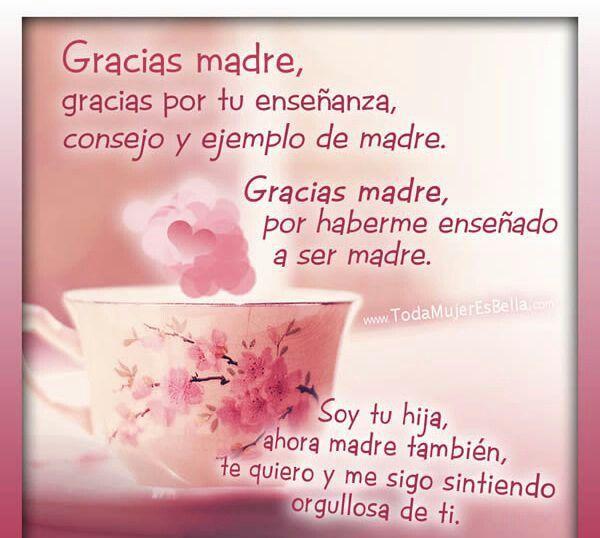 Gracias Madre Quotes feliz dia de las madres | feliz día de las madres | pinterest