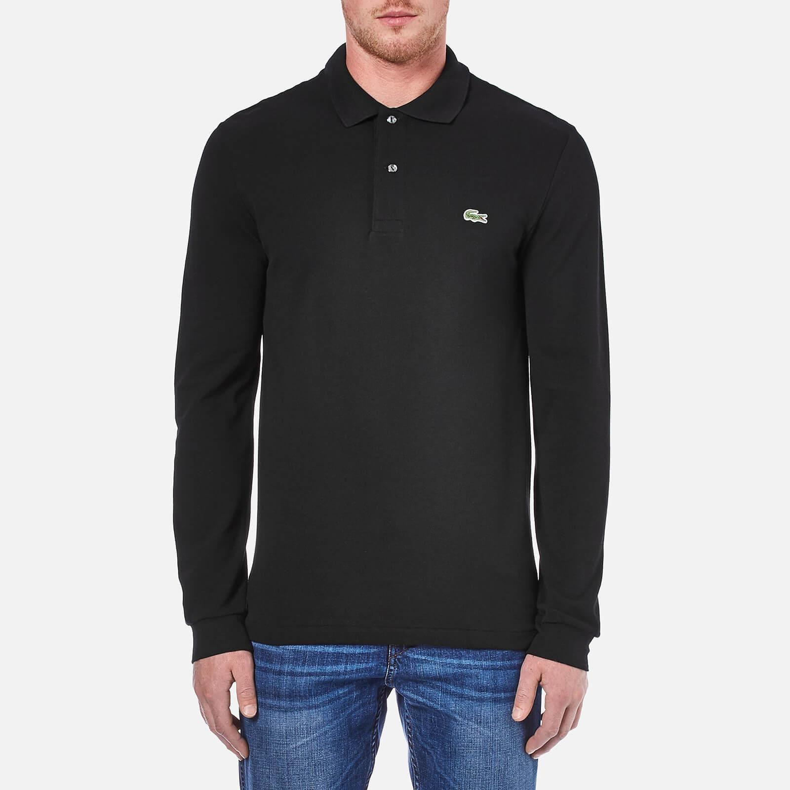 Lacoste Black Long Sleeve Polo Shirt for men