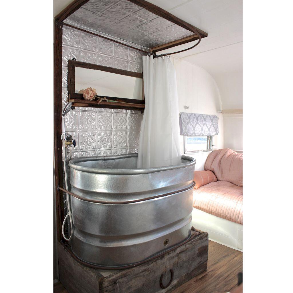 Adorable 40 Small Rv Bathroom Remodel Ideas Https