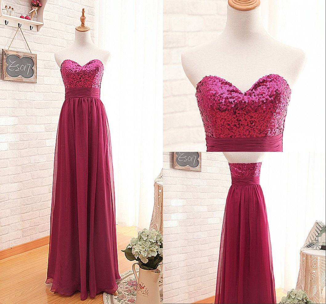 burgundy empire sequins prom dresslong aline burgundy