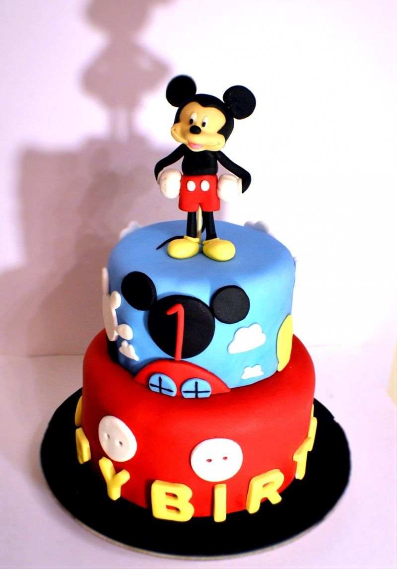Cake Designs Mickey Mouse : Mickey Mouse Clubhouse Cake. Mickey mouse cake. Fondant ...