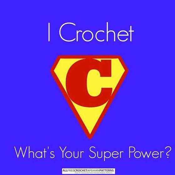 Símbolo superman para el crochet
