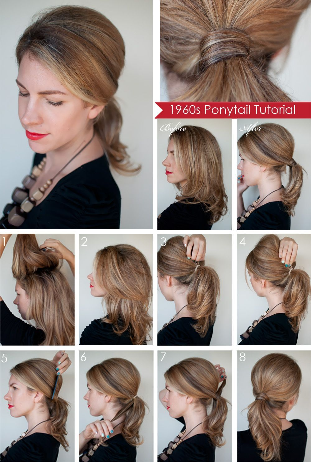 How To Make Hairstyles At Home For Short Hair Easy Diy Ponytail Hairstyles Long Hair Updo Medium Hair Styles