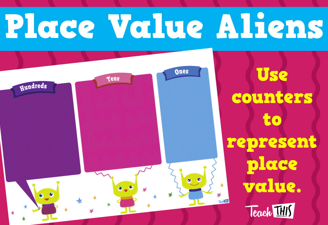 Place Value Aliens - Blank | Maths | Pinterest | Aliens, Math and ...