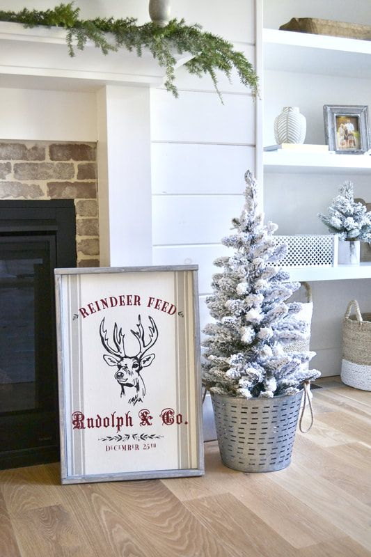 family room christmas decor farmhouse decor farmhouse christmas wood sign christmas wood sign wall decor king of christmas flocked tree pinterest