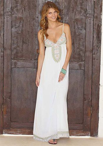 Adelina Embroidered Maxi Dress