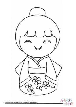 daruma doll coloring pages - photo#8