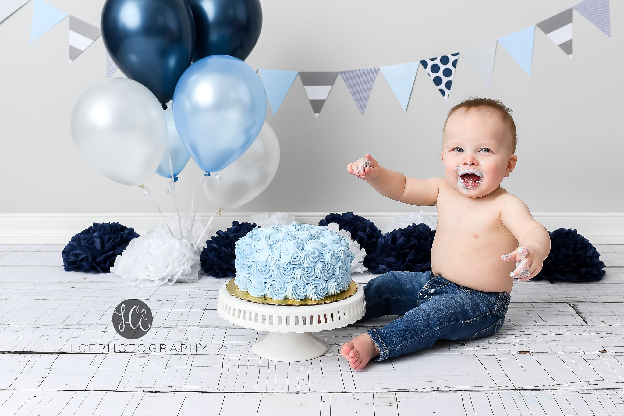 Blue And Grey Cake Smash Boy Cake Smash With Images Smash
