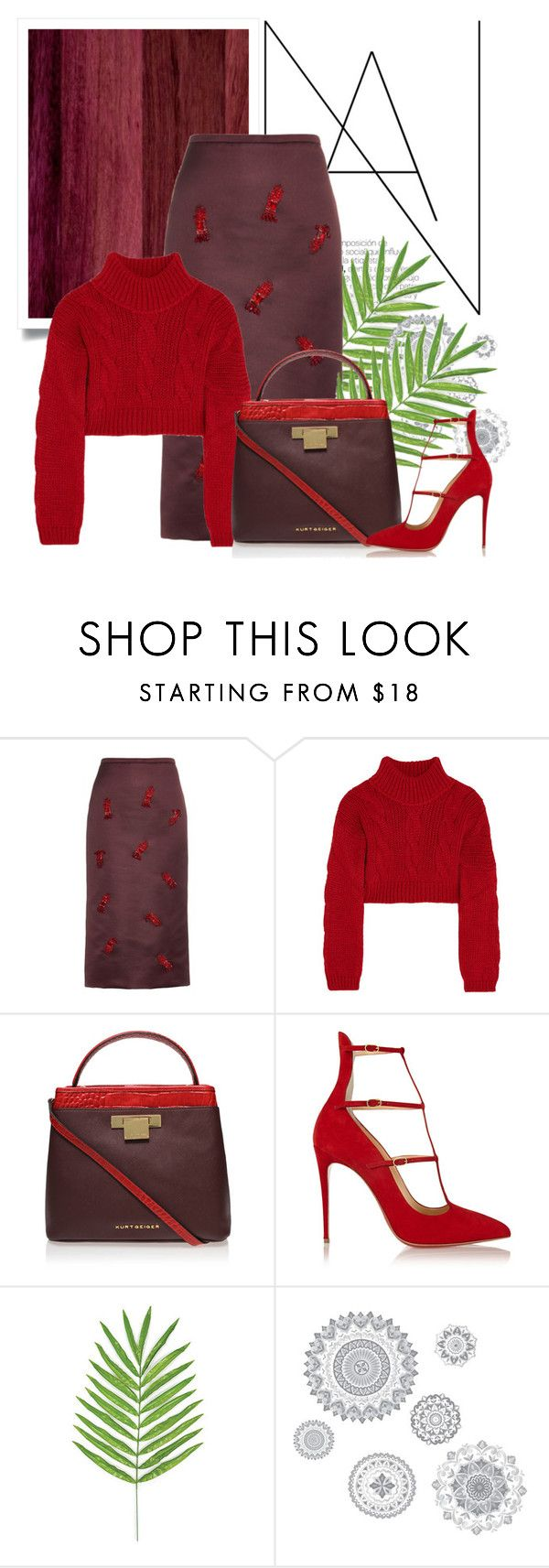 """""""polycool"""" by namelifny1 on Polyvore featuring moda, Rochas, Vivienne Westwood Anglomania, Kurt Geiger, Christian Louboutin ve Wall Pops!"""