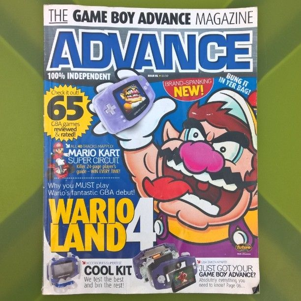 On instagram by andsomegamers #gameboy #microhobbit (o) http://ift.tt/24ENdmZ #Gameboy Advance Magazine No1 from 2001 #Nintendo #retrogamers #retrogaming #Ninstagram #Nintendogram #NintendoLife #instagamers #Gamersofinstagram #gamers #Wario