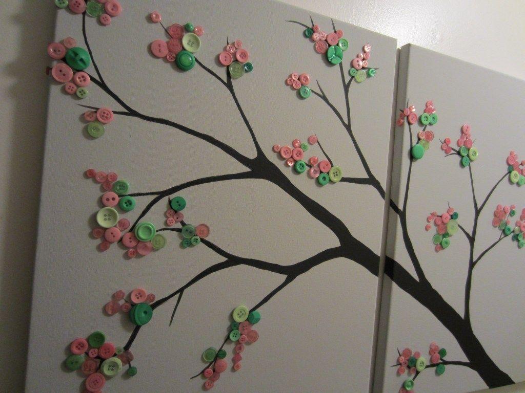 best 25 button tree canvas ideas on pinterest button tree