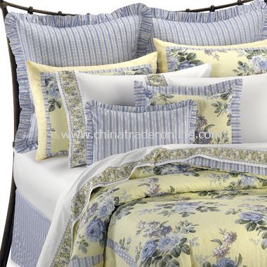 French Blue And Yellow Comforter Sets By Laura Ashley Yellow