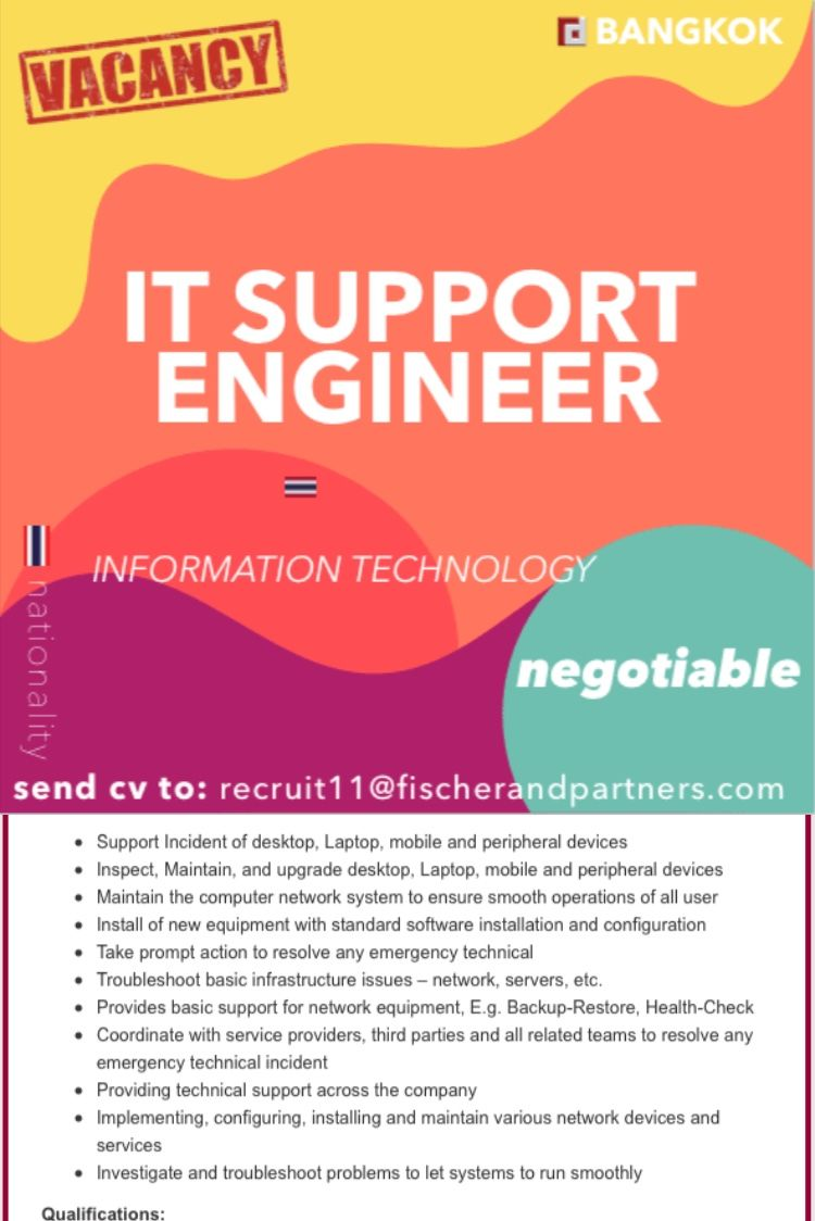 It Support Engineer In 2020 Recruitment Agencies Executive Search Recruitment Company