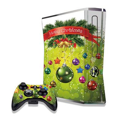 Christmas Ornaments Style Skin Decals Stickers for XBOX 360S Console - halloween fish tank decorations