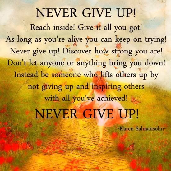 """Bible Quotes Never Give Up: """"One Unexpected & Positive Lesson You'll Often Learn As A"""