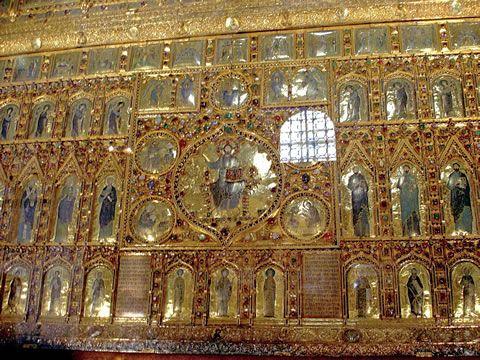 Image result for golden altarpiece of St. Mark.mosaic venezia