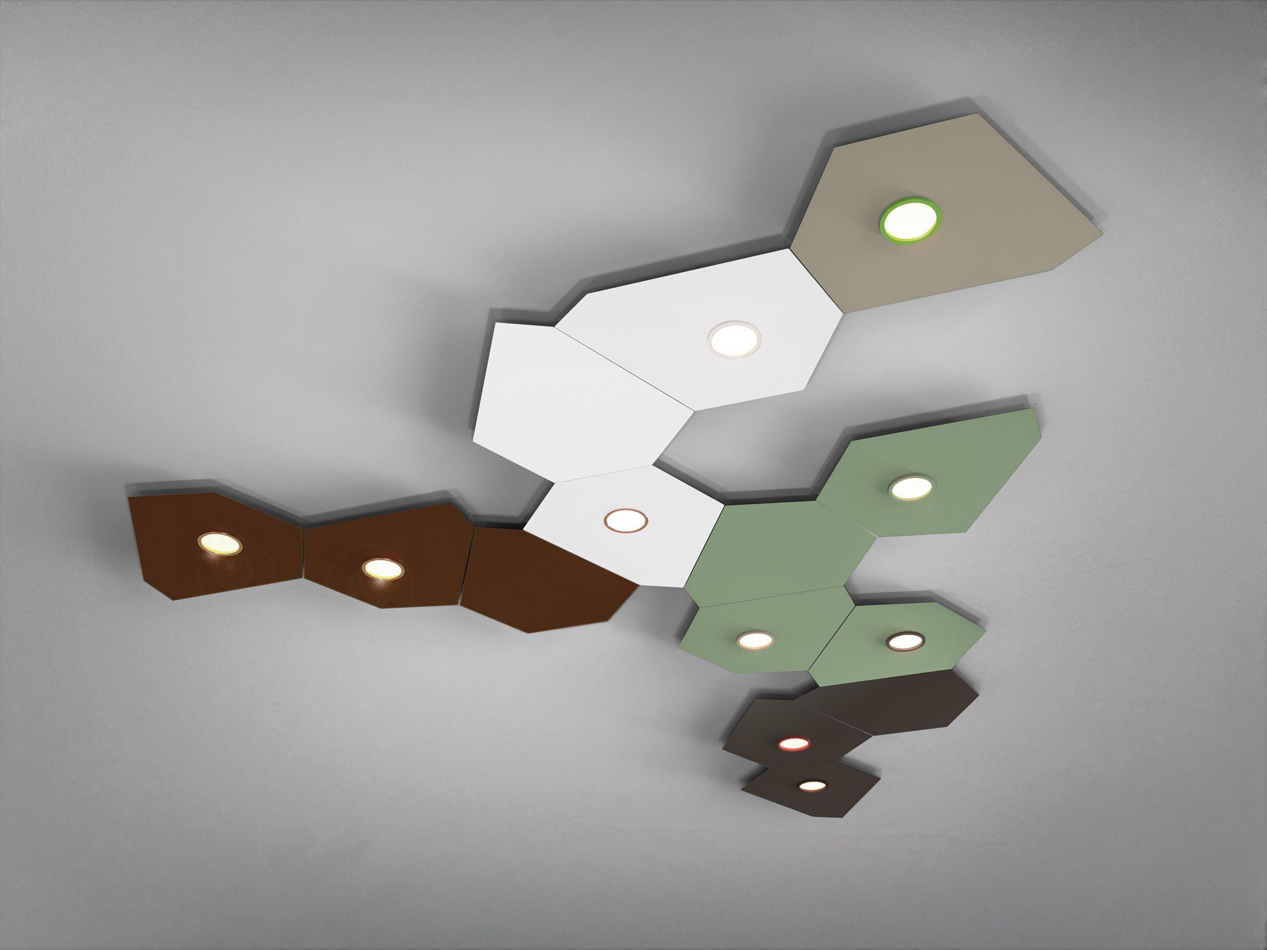 Domino lampada da soffitto lumen center italia domino