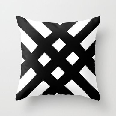Throw Pillow featuring Dijagonala V.2 by Trebam