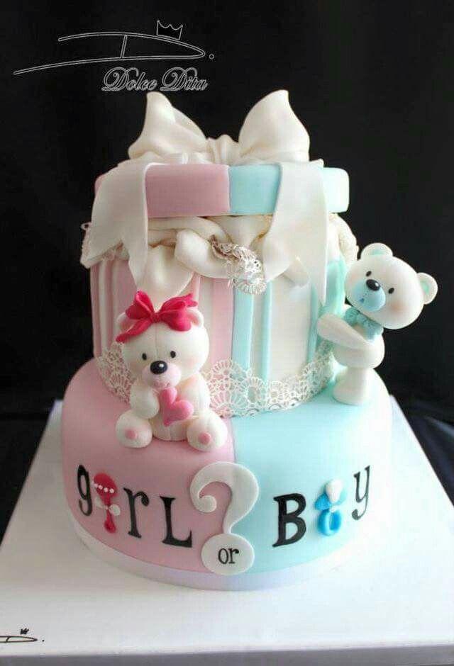 Baby shower gender reveal cake in 2019