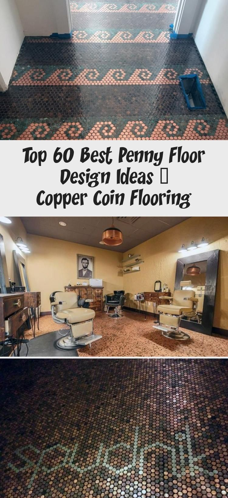 Top 60 Best Penny Floor Design Ideas Copper Coin Flooring Ktchn 2020