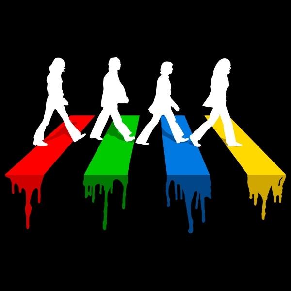 Beatles Art Beatles Painting Abbey Road