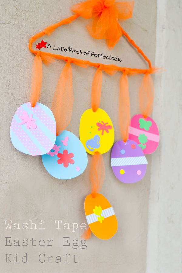 Washi Tape Easter Egg Kid Craft No Glue Or Paint Required So Its The Perfect