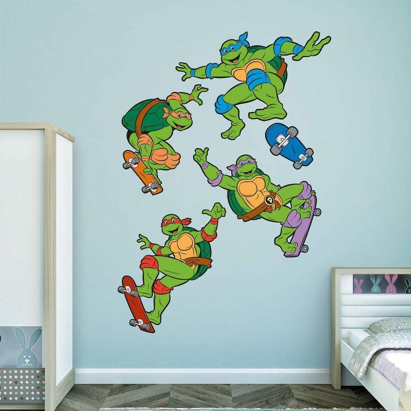 Fathead Classic Teenage Mutant Ninja Turtles Skateboarding Wall - Ninja turtle wall decals