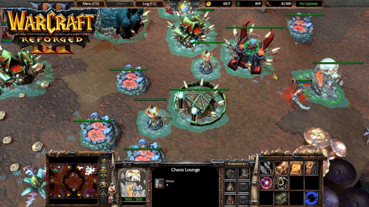 Warcraft 3 Reforged Chaos Orc Map 1 Vs 2 The Best Play Warcraft 3 Warcraft Warcraft Iii