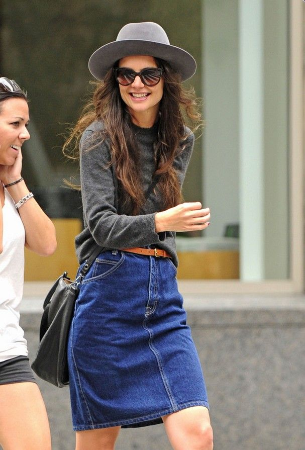 9 Classic and Cute Denim Skirt Looks for All Styles ...