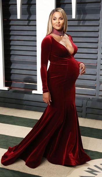 51e5f2424e6 Dress: maxi gown prom ciara oscars 2017 maternity maternity long ...