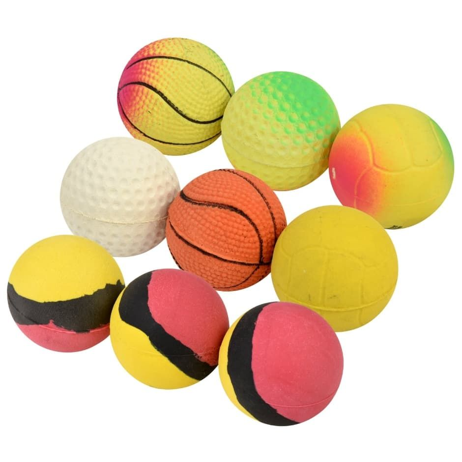 All Star Sportscolorful Rubber Balls 3 Ct Packs Bouncy Balls Rubber Dollar Tree Store