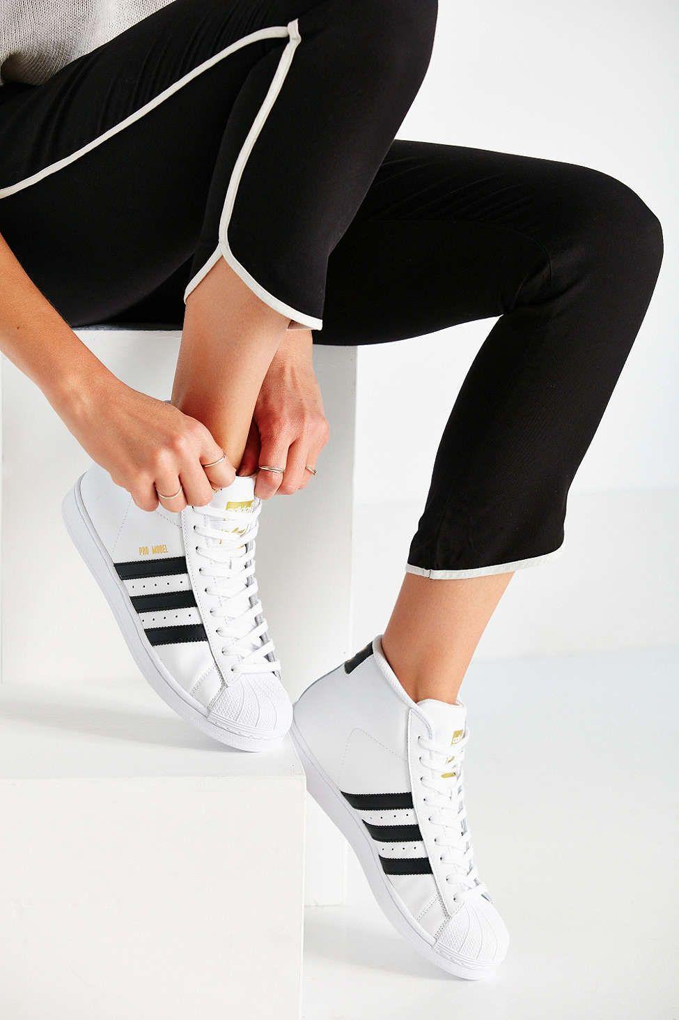 Inspección Regulación a la deriva  adidas Originals Pro Model High-Top Sneaker | Sneakers, Sneaker boots,  Adidas