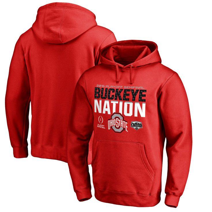 Ohio State Buckeyes Fanatics Branded College Football Playoff 2016 Fiesta Bowl Bound Nation Pullover Hoodie - Scarlet - $54.99