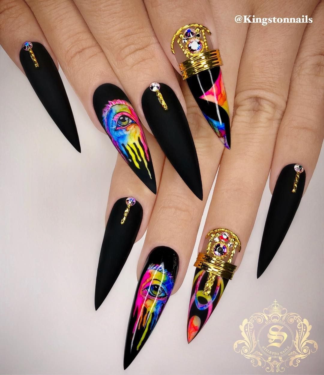 This Rainbow Eyeball Will Be On Action Toronto Class May 12 14 Only Few Seats Left What R U Waiting For Sign Up Stiletto Nails Long Nail Art Nail Designs