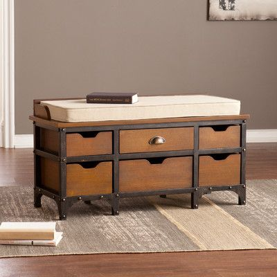 Storage Bench Option We Can Find A Fun Fabric For Cushion With Images Oak Storage Bench Bench With Storage