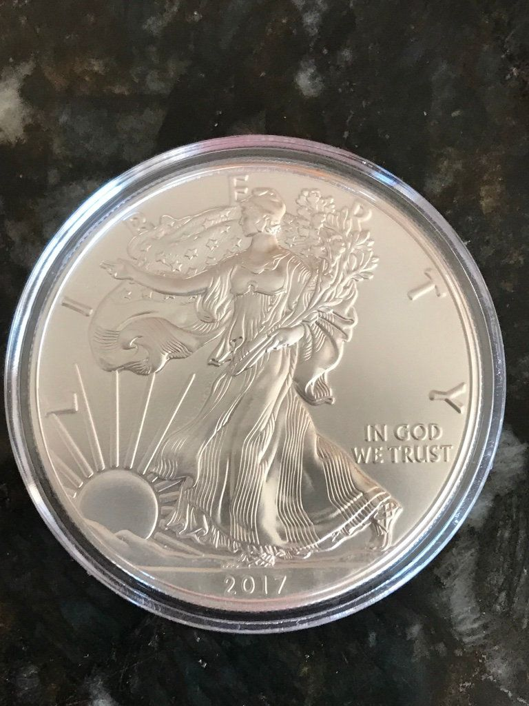 2017 PROOF 1 OZ 999 PURE SILVER Finding Silverbug Island Whirlpool  Round Coin