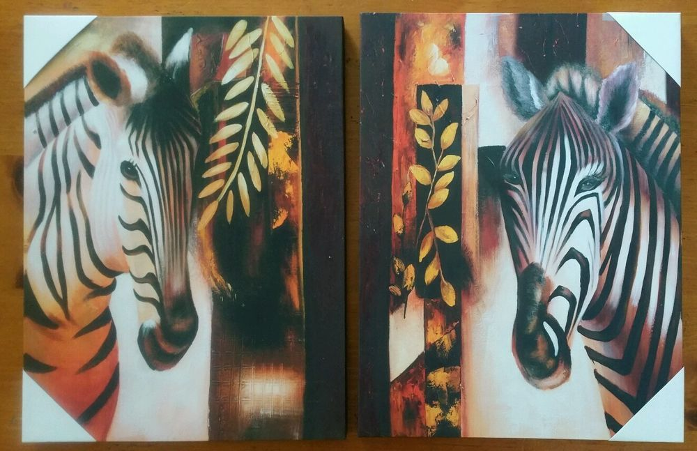 "Zebra Wall Art Picture Home  decor   20""x16"" inch 