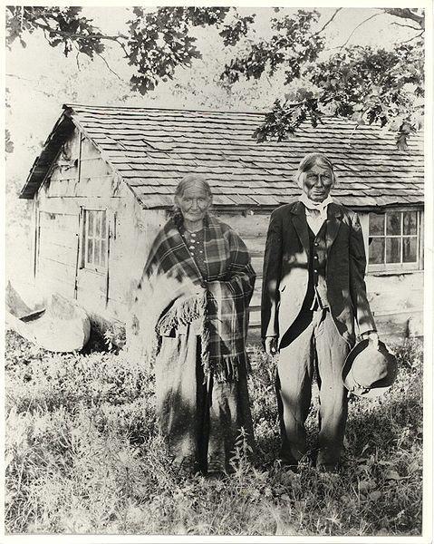Good Thunder с женой Snana. Дакота.
