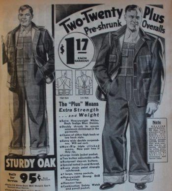 Men S Vintage Workwear 1920s 1930s 1940s 1950s