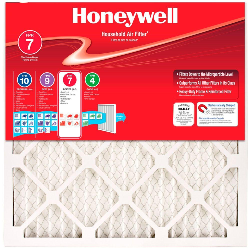 Honeywell 18 In X 36 In X 1 In Allergen Plus Pleated Fpr 7 Air Filter 2 Pack Air Filter Filters Electrostatic Air Filter