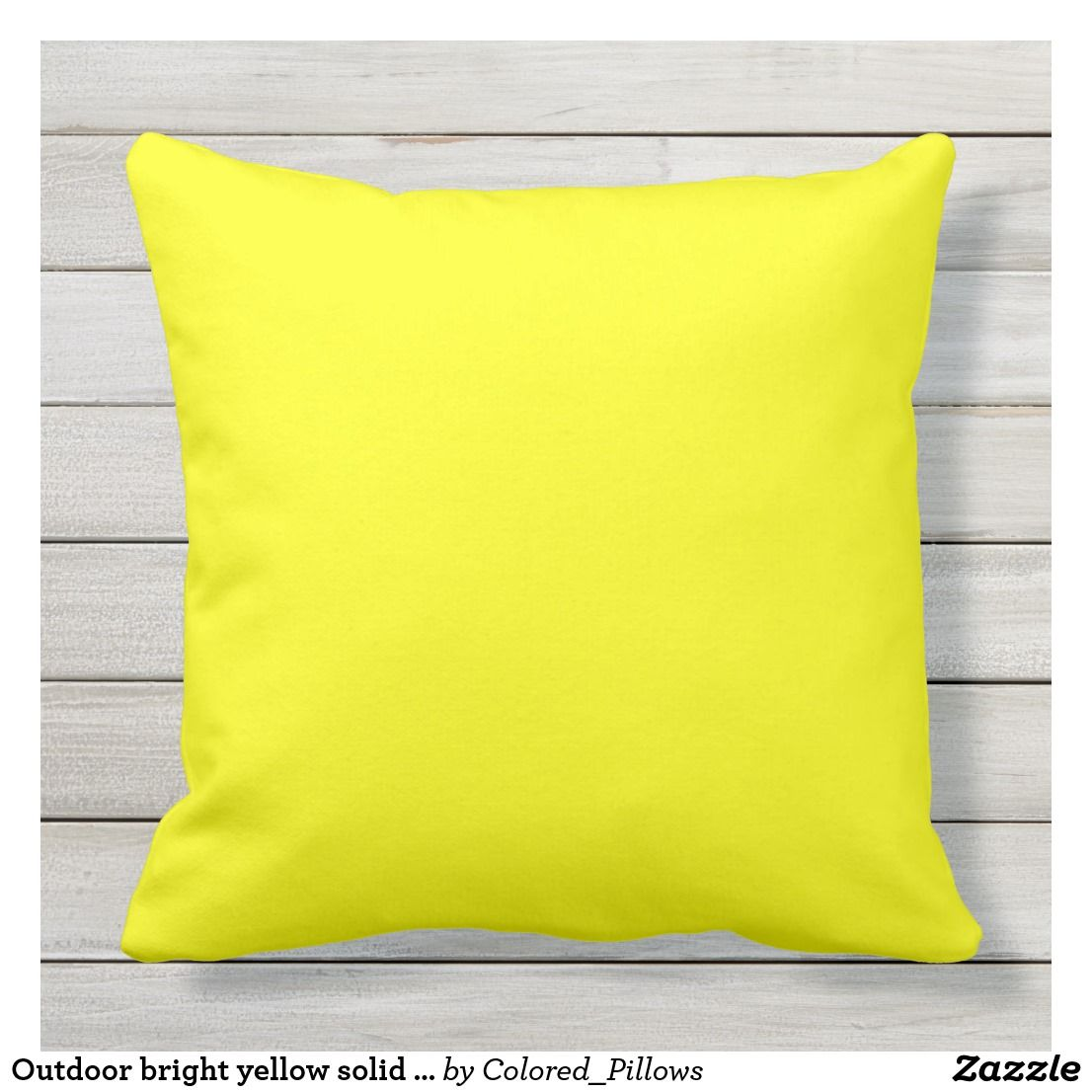 Outdoor Bright Yellow Solid Plain Color Throw Pillow Zazzle Com