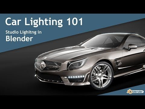 Car Lighting 101 - Studio Lighting in Blender - YouTube